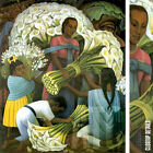 """32W""""x40H"""" THE FLOWER VENDOR by DIEGO RIVERA - SPANISH MUSEUM - CHOICES of CANVAS"""