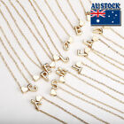 Genuine Womens 18k Gold Plated A-z Letter And Love Heart Pendant Necklace