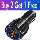 2 3 4 Port USB QC 3.0 Fast Car Charger for iPhone Samsung Android Cell Phone LG