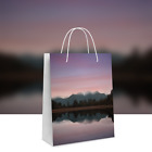 Twisted Handle Paper Carrier Bags 140gsm White Glossy Kraft Paper