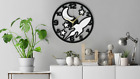 Rocket Moon Stars Kid Wall Clock Gift Silent Non-Ticking Kitchen Living Room 250