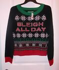 Ugly Christmas Sweater Women's Size XL Sleigh All Day Sweater