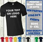 Custom Personalised T-SHIRTS Men's Women's Printed Design Name Text Hen Stag Do