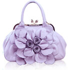 Personality fashion flower leather sweet bridal party shoulder bag handbag 18941