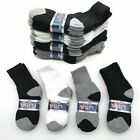 Lot 6 12 Pairs Solid Child Kids Sports Athletic Crew Socks Cotton Size 2 8 New