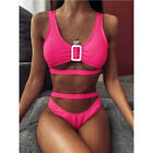 Womens 2 Piece Bandage High Waist Bikini Swimsuit Swimwear Beachwear Bathing z