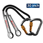 Aluminum-Lock-Carabiner-Climbing-Safety-Rope-Cord-Prusik-Loop-Rock-Rappelling