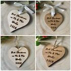 Engraved First Christmas as Mr & Mrs Decoration 1st Xmas Together Any Text Gift
