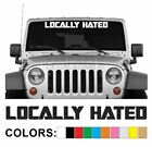 Locally Hated Windshield Decal Sticker style1 Boost wrx Car Turbo Diesel Truck