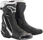 Alpinestars SMX Plus Vented Motorcycle Boots BLACK WHITE