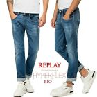 REPLAY jeans uomo HYPERFLEX BIO slim fit ANBASS super elasticizzato M914 661 A06