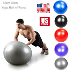 Yoga Ball PVC w/ PUMP Exercise Fitness Balance Gymnastic Body Building 55cm 65cm image