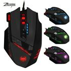 ZELOTES Wired USB Gaming Mouse Computer Game Mice 4 Adjustable DPI 7 LED Lights