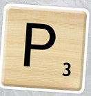 Scrabble Letter Stickers - Matte Finish - 30mmx30mm - High Quality - For Laptops