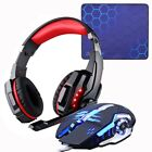 Gaming Headset Headphones+Wired Gaming Mouse Mice Gamer Earphone+Gaming Mouse
