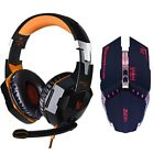 LED Headphone Deep Bass Stereo Headset with microphone Professional Gamer USB