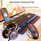 Gaming Keyboard and Mouse Combo With PC Gaming Headset LED Backlit USB Wired Lot