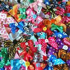 20 DOG COLLAR BOWS ASSORTED MIX PACK bulk girls boys bandannas groomers grooming