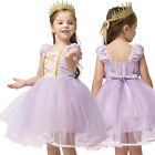 Summer Girl Clothes Kids Princess Rapunzel Costume Birthday Dress Party Dresses