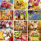 Flower DIY Paint By Numbers Kit Digital Oil Painting Canvas Art Wall Home Decor