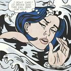 "22W""x22H"" DROWNING GIRL by ROY LICHTENSTEIN - POP ART COMIC CHOICES of CANVAS"