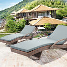 Outdoor Wicker Lounge Chaise Patio Furniture Rattan Adjustable Chair 6082-TYBR