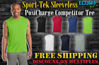 Sport-Tek SLEEVELESS Dri Fit PosiCharge Performance WORKOUT Muscle Tee