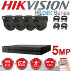 HIKVISION 5MP CCTV SYSTEM 4CH 8CH DVR HD DOME CAMERA WHITE GREY HOME OUTDOOR KIT