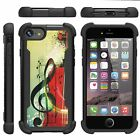 For Apple iPhone SE 2 / XE Dual Layer Hybrid Grip Bumper Defender Kickstand Case