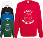 Happy Christmas Pudding Xmas Sweatshirt Gift Jumper Funny Comedy Pud Present