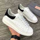 Brand-New 🔥🔥 Alexander McQueen White & Black Suede Tail Oversized Sneakers