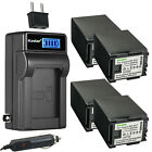 Kastar BP-827 Battery LCD AC Charger for Canon VIXIA HF G20 HFG20, HF G30 HFG30