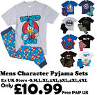 MENS CHARACTER PYJAMAS EX UK STORE NIGHT WEAR 2PC LONG PJ SETS S -5XL BRAND NEW