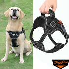 Breathable M-XL Big Dog Harness No Pull Pet Reflective Vest Easy Control Harness