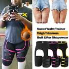Slim Thigh High Waist Trimmer Exercise Wrap Belt Sauna Sweat 3 In 1 Body Shaper  image