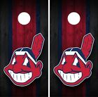 Cleveland Indians Cornhole Wrap Decal Stickers Vinyl Gameboard Skin Set JC028 on Ebay