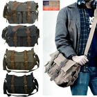 14'' Canvas Messenger Bag Casual Briefcase Laptop School Shoulder Bag Travel USA