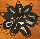 Kyпить Reusable Face Mask, Black Washable, Cover Mouth Nose Fashion Cotton Teeth Unisex на еВаy.соm