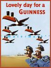 Lovely Day for A Guinness Pilots Vintage Poster Print Beer Advertising Ireland