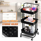 3-Tier Rolling Kitchen Cart Storage Holder Rack Home Furniture Utility  @