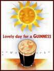 A Lovely Day Sun and Guinness Vintage Poster Print Retro Art Home Bar Decoration