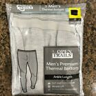 New Men's Open Trails Premium Thermal Bottoms Ankle Length Gray/Cream DD-1.1-4