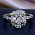 925 Silver White Sapphire Plated  Rings Elegant  Engagement Women Size 6-10