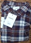 SONOMA THE SUPERSOFT FLANNEL MENS CLASSIC 2 POCKET BUTTON SHIRT LIST $40
