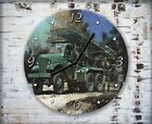Military Truck War Wall Clock Home Office Bedroom Living Room Kitchen Decor