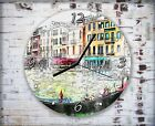 Venice Houses Boats Wall Clock Home Office Bedroom Living Room Kitchen Decor