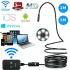 8mm Android Endoscope 6 LED Snake Borescope USB Inspection Camera 2m/5m Cable t0