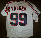 #99 Rick VAUGHN Cleveland Indians Jersey WHITE S M L 2X 3X   WILD THING!!