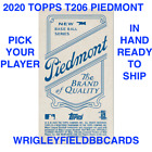 2020 Topps T206 Online Exclusive Series 1 (Cards 1-50) PIEDMONT BACK Insert