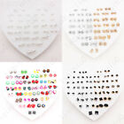 36 Pairs Multiple Styles Fashion Rhinestone Earrings Set Women Ear Stud Jewelry image